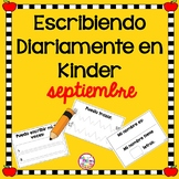 Daily Kindergarten Writing | SPANISH | Escribiendo Diariamente | September