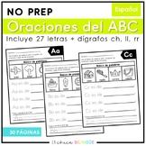 Oraciones del Alfabeto (Spanish Alphabet Sentences)