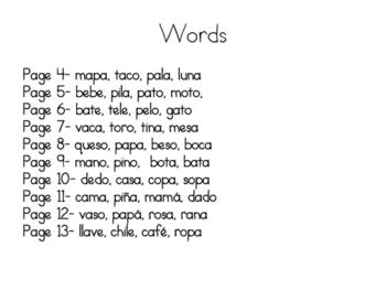 Escribiendo Palabras de dos silabas