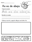 Escribiendo con el Abecedario- Writing with the Alphabet