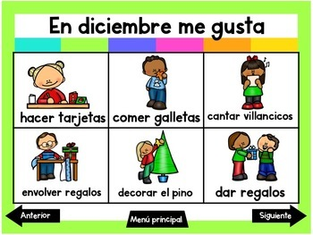 Escribiendo en Diciembre (Digital Vocabulary and Journal Prompts for December)