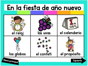Escribiendo en Enero (Digital Vocabulary and Journal Prompts for January)