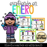 Escribiendo en Enero (Digital Vocabulary and Journal Promp