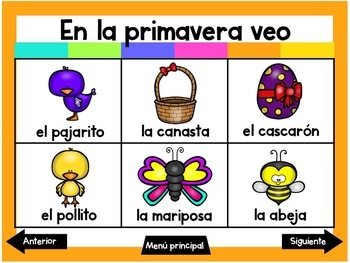 Escribiendo en Marzo (Digital Vocabulary and Journal Prompts for March)