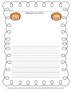 Escribiendo sobre mis emociones (Escritura en la primaria)