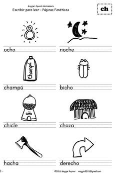 Escribir Para Leer - páginas fonéticas - Maggie's Spanish