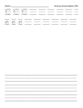 Escribir letras y oraciones para 27 letras y ch, ll, rr