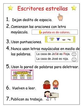 Writer's Rules Spanish