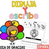 Escritura Día de Gracias Writing in Spanish