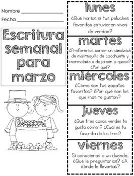 Escritura Diaria para marzo