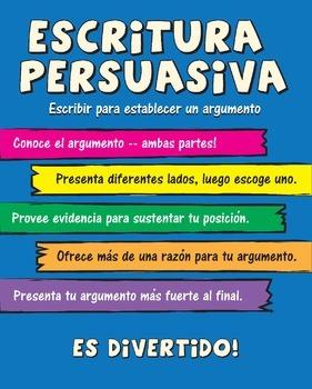 Escritura Persuasiva / Persuasive Writing Poster