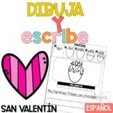 Escritura San Valentín Writing in Spanish