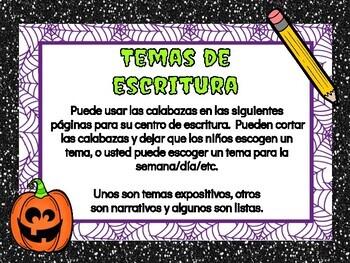 Escritura de Halloween
