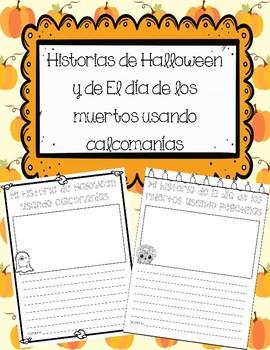 Escritura de Halloween/Día de los muertos usando calcomanías