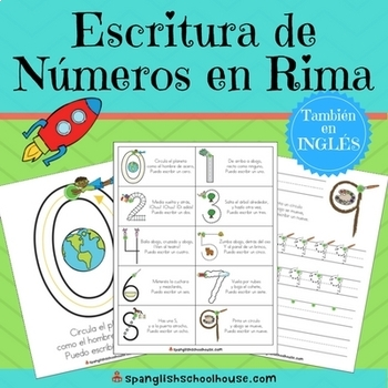 Escritura de Numeros en Rima - Spanish Number Writing Rhymes