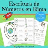 Escritura de Numeros en Rima - Spanish Number Writing Rhymes
