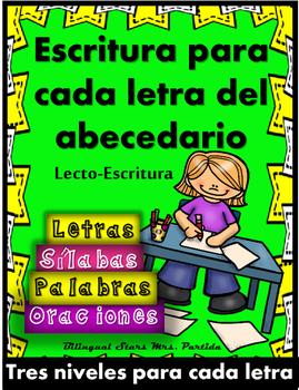 Escritura de Oraciones Fonéticas Alfabeto Consonantes Silaba Palabra Mrs.Partida