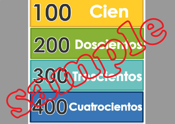 Escritura de numeros SPANISH