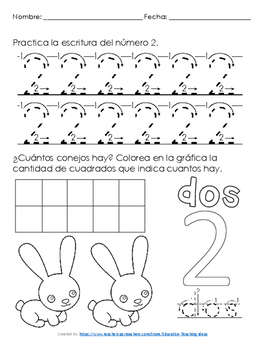 Escritura de números del 0 al 25
