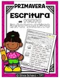 Escritura de texto informativo para primavera