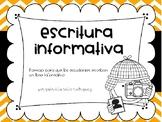 Escritura informativa