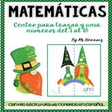 Escritura-lectura números San Patricio-centro matemáticas:trazar y leer ¡Yo leo!