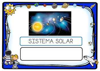 Escritura palabras EL ESPACIO / Writing words THE SPACE (Spanish)