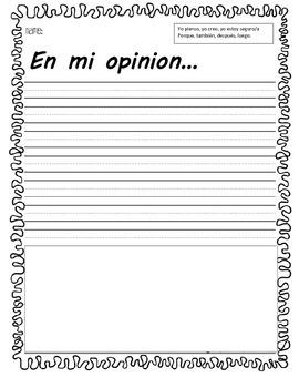 Escritura sobre la opinion