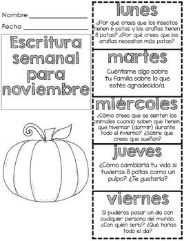 Escritura Diaria para noviembre