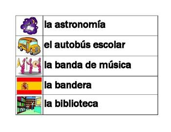 Escuela (School in Spanish) Word Wall