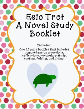 Esio Trot A Novel Study Interactive Booklet