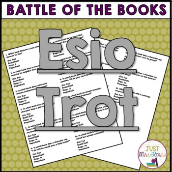Esio Trot Battle of the Books Trivia Questions