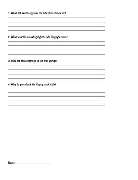 Esio Trot Book Questions