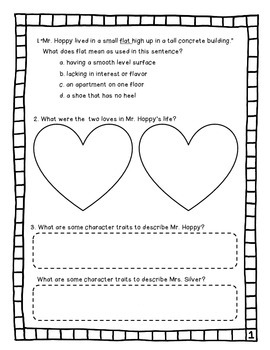 Esio Trot Comprehension Packet