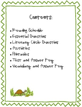 Esio Trot (TRIAL Literature Study): Test, Vocabulary, Printables, Activities
