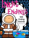 Eskimo Endings Winter Ending Sounds Kindergarten File Folder Game