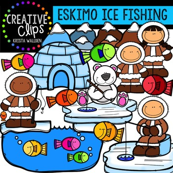 Inuit Ice Fishing {Creative Clips Digital Clipart}