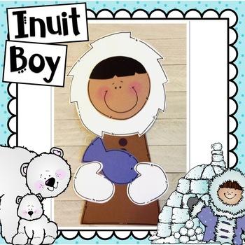 Eskimo Kids Craft & Writing Activities: Winter Craft