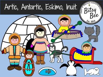 Eskimos. (Bitsy Bee Clip Art)