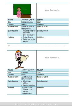 Esl Game: Role Playing Cards