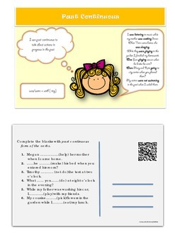 Esl Grammar Postcards on Tenses for Young Learners [with QR codes]