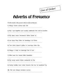 Esl Reading Lesson: Adverbs of Frequency