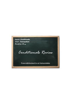 Esl Lesson: Conditionals Review