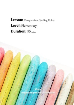 Esl Reading Lesson: Comparative Adjective Spelling Rules