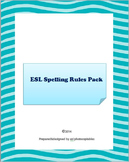 Esl Spelling Rules Pack