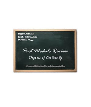 Esl lesson: Past Modals Review Pack