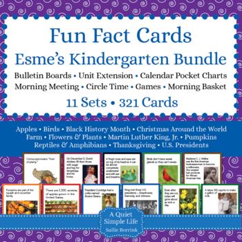 Esme's Kindergarten Fun Fact Cards CUSTOM BUNDLE
