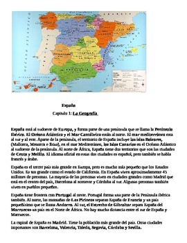 Espana Geografia Spain Spanish geography thematic unit
