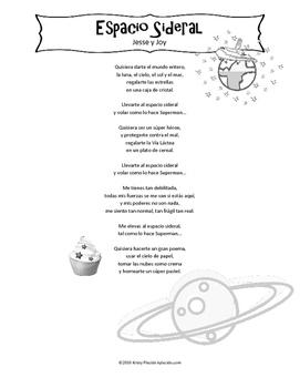 Espacio Sideral Song Packet