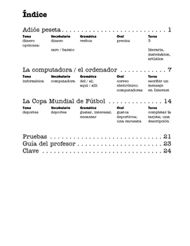 España siglo XXI, Adiós peseta, Fútbol, Ordenadores - 3 units - SP Beginners 2